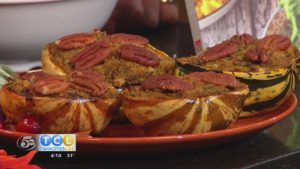 TCL Thanksgiving Show: Stuffed Sweet Dumpling Squash with Shiitakes and Pecans