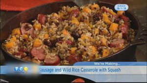 Monday Night Meal: Sausage and Wild Rice Casserole with Squash
