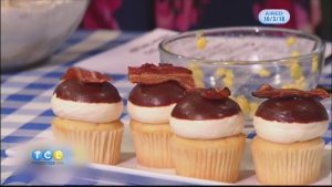Sweet Corn and Bacon Cupcakes