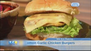Garlic Lemon Chicken Burger