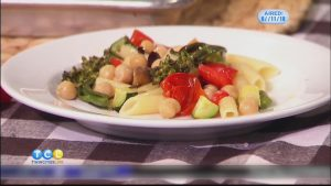 Monday Night Meal: Roasted Summer Veggie Penne with Chickpeas