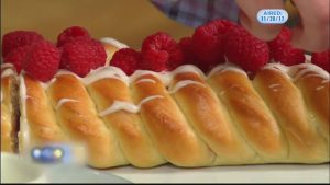 Raspberry Brioche Braid