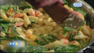Monday Night Meal: Butternut Squash and Shrimp Pasta