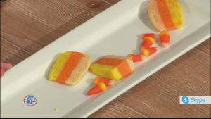 Candy Corn Halloween Sugar Cookies