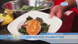 Chicken with Roasted Kale