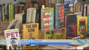 Cream & Amber Bookstore